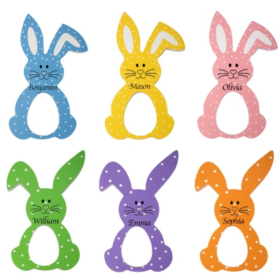 Personalized Easter Bunny Egg Holder Easter Decoration