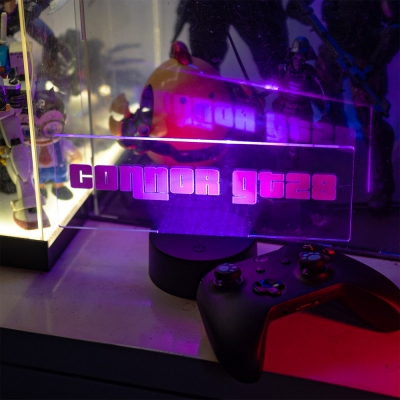 Personalisierte Gamer Name Sign LED Lampe