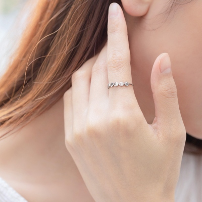 Custom Sterling silver Initial Stacking Rings