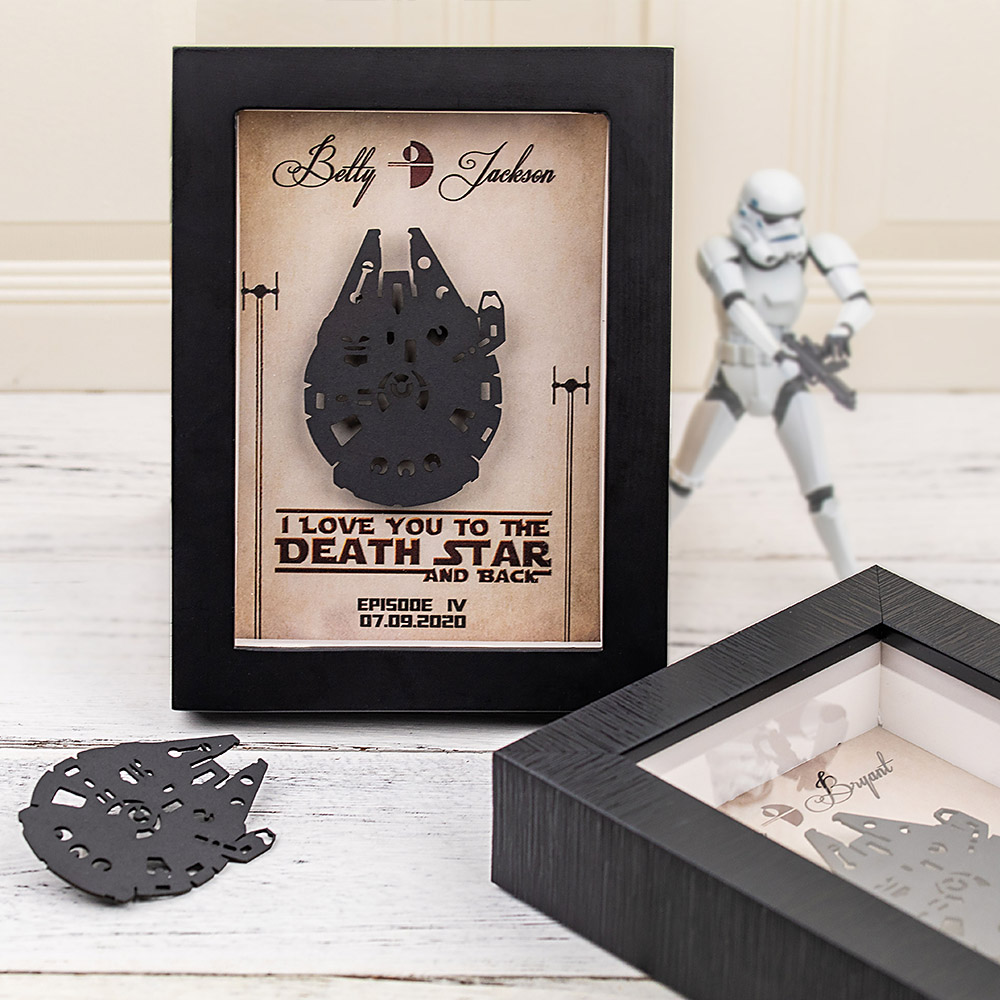 Personalized Star Wars Shadowbox Anniversary Gift