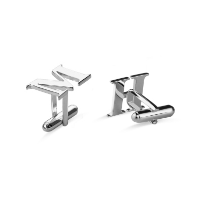 Men's Valentine's Gift: Cufflinks with Personalized Initial