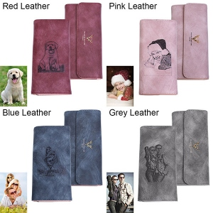 Women's Photo Leather Long Wallet