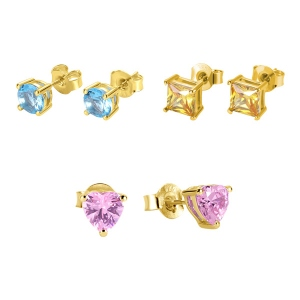 Personalized Birthstone Stud Earrings Gold