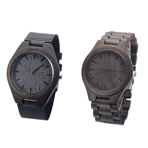 Engraved Ebony Watch for Men