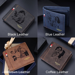 Personalized Men's Photo Leather Wallet