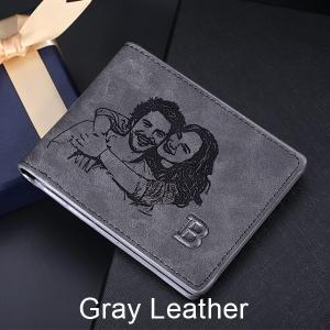 Men Wallets Genuine Leather PersonalizedShort Wallet Custom photo Wallets