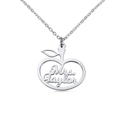 Personalized Apple Name Necklace