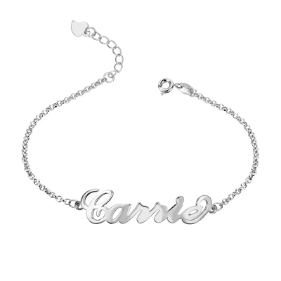 Personalized Name Anklet in Silver