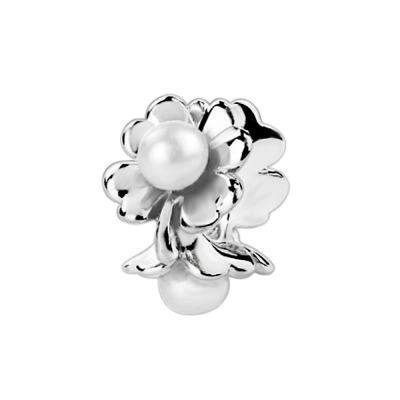 Four Leaves Clover Charm With Pearls