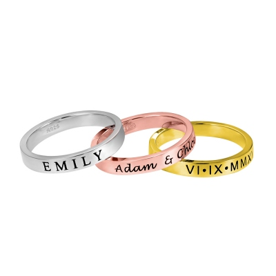 Custom Engraving Stackable Rings