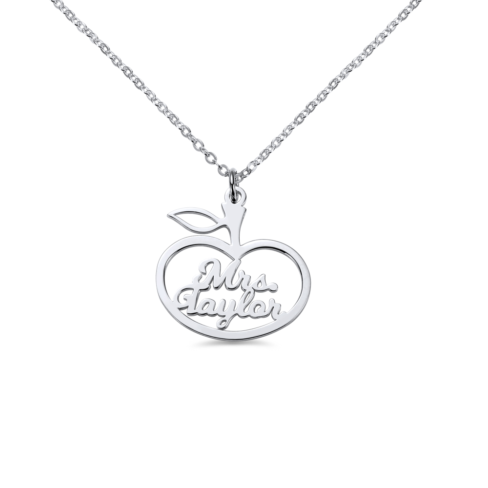 Personalized Apple Style Name Necklace