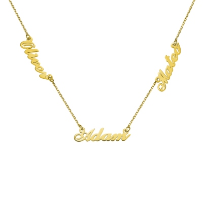 Personalized Three Name Neckalce