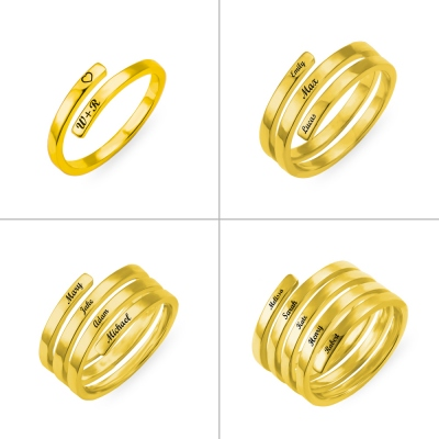 Personalized Name Ring in Gold