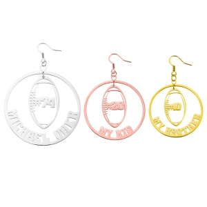 Personalized Rugby Name Earrings