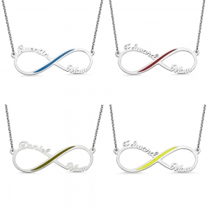 Personalized Infinity Name Necklace Gift for Hero's Mom/Wife