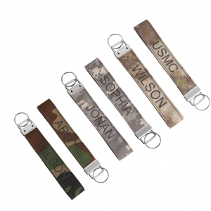 Personalized Camo Fabric Keychain Set of 2