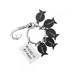 Idiomatic Stainless Steel Fishing Keychain