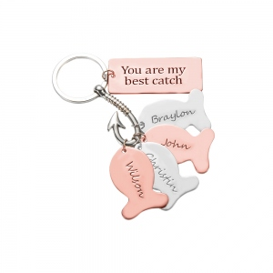 My Best Catch Fishing Keychain Father's Day Gift