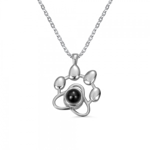 Personalized Pet Paw Projection Necklace