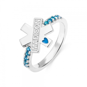 Start of Life EMS Symbol Ring Medical Gift