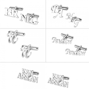 Personalized Letter Name Cufflinks