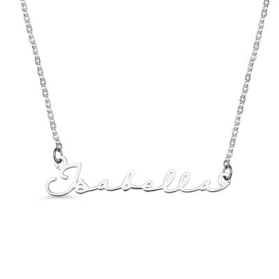 Personalized Minimalist Name Necklace in Silver