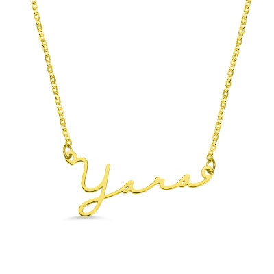Personalized Minimalist Name Necklace in Gold