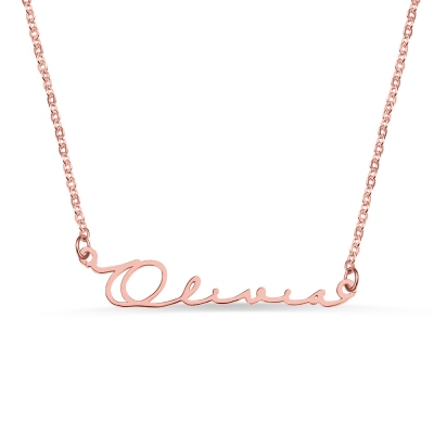 Personalized Minimalist Name Necklace in Rose Gold
