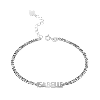 Personalized Bold Curb Chain Name Bracelet