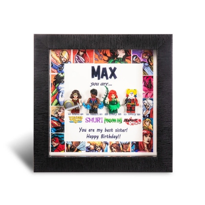 Customized Female Superhero Frame