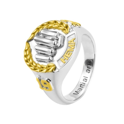 Personalized Martial Arts Championship Ring
