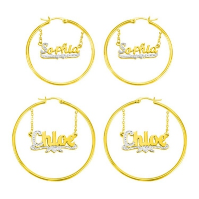 Customized Name Hoop Earrings