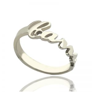 Personalized Carrie Name Ring Gift Sterling Silver