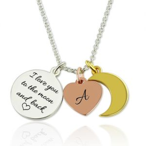 Customizable Love You To The Moon And Back Charm Necklace
