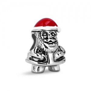 Christmas Inspired Silver Santa Claus Charm