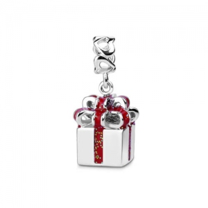 Sterling Silver 925 Classic-looking Gift Box Charm
