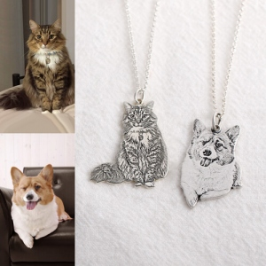 Customizable Memorial Pet Photo Necklace