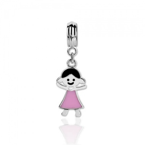 Unique Sterling Silver 925 Kid Charm
