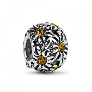 Beautiful Sterling Silver Daisy Bead