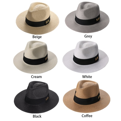Personalized Initials Panama Hat