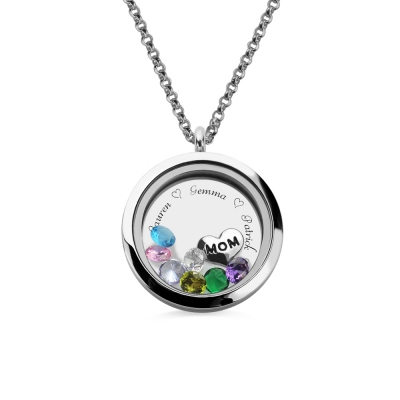 Engraved Floating Charm Locket -