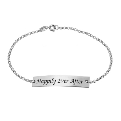 Personalized Bar Bracelet For Mom Sterling Silver