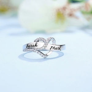 Customized Heart CZ Ring 2