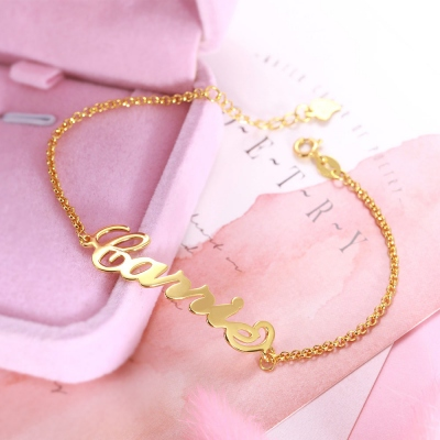 Personalized Name Anklet in Gold