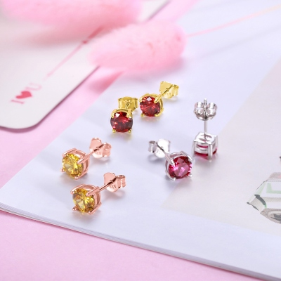 week birthstone earrings