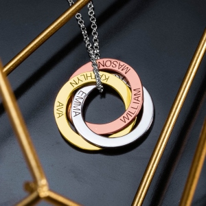 Personalized Russian Ring Necklace