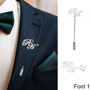 Personalized Initial Name Lapel Pin