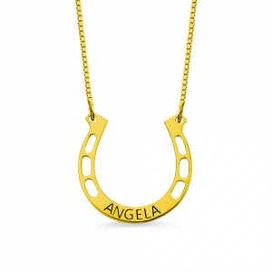 Personalized Horseshoes Name Necklace