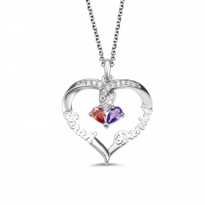 Collier de nom Forever Together Twisted Strings Birthstone