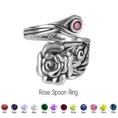 Personalized Rose/Bee/Opal/Pineapple Spoon Ring